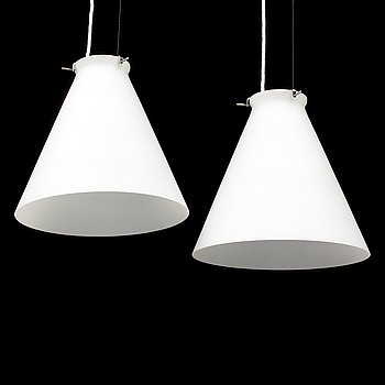 PER SUNDSTEDT, a pair of 'PS' glasspendant lights from Zero Design, 1990's.