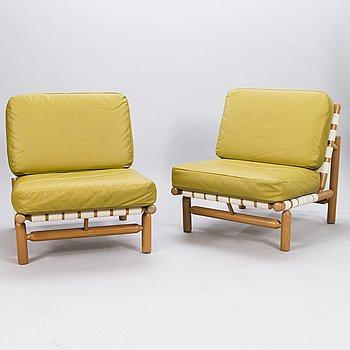 ILMARI TAPIOVAARA, a pair of mid 20th century armchairs  Wilh. Schauman for Lukkiseppo.
