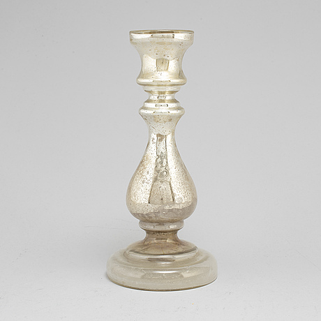 A 19th century glass candlestick