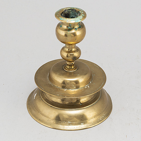 A 17th century baroque bronze candlestick.