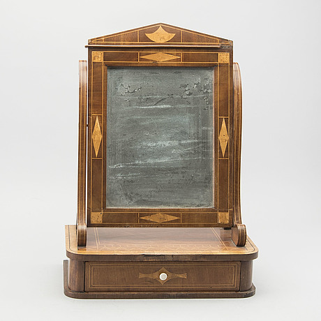 A late empire table mirror mid 1800's
