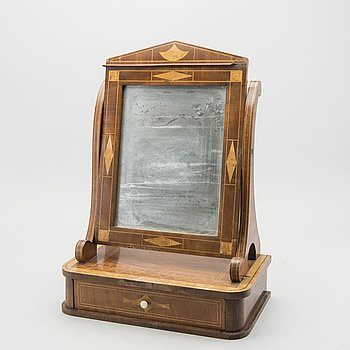 A late Empire table mirror mid 1800's.