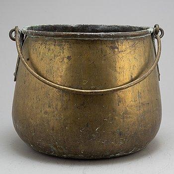 GRYTA, mässing, 1800-tal.