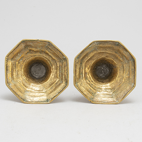 Ljusstakar, ett par, brons, 1700 tal