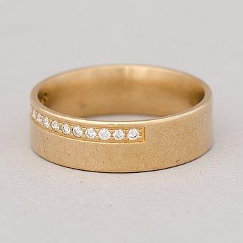 RING, briljantslipade diamanter, 18K guld.