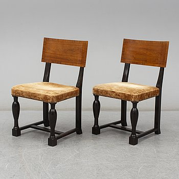 A pair of Swedish Grace chairs, 1920's.