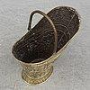 A 19th century brass coal basket