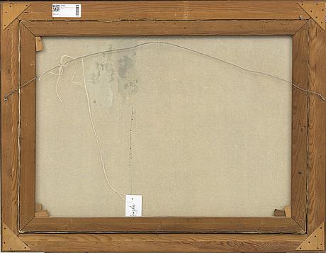 William gislander, olja på duk, signerad