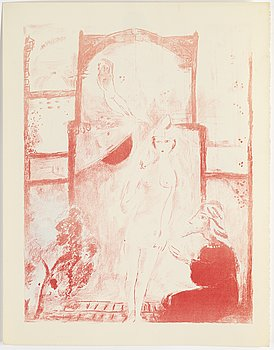 MARC CHAGALL, lithograph, artist's proof, ca 1948.