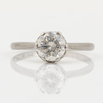 Solitaire brilliant-cut diamond ring ca 1,20 ct.
