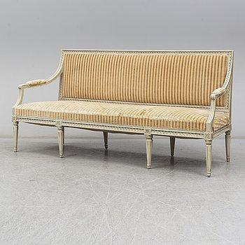 A Swedish Gustavian sofa, late 18th century.