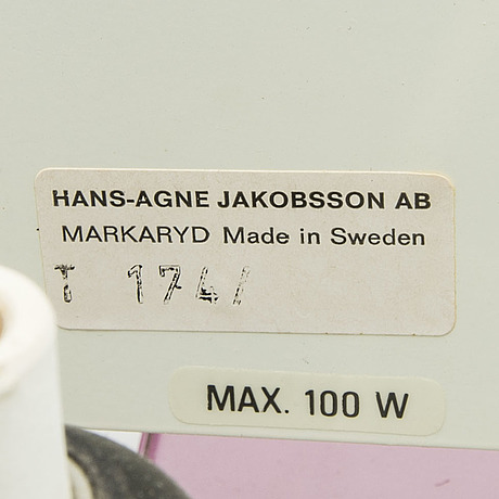 """Hans agne jakobsson, vägglampor ett par """"selectra"""""""