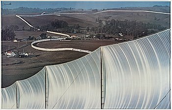 CHRISTO & JEANNE-CLAUDE, color-poster, signed..