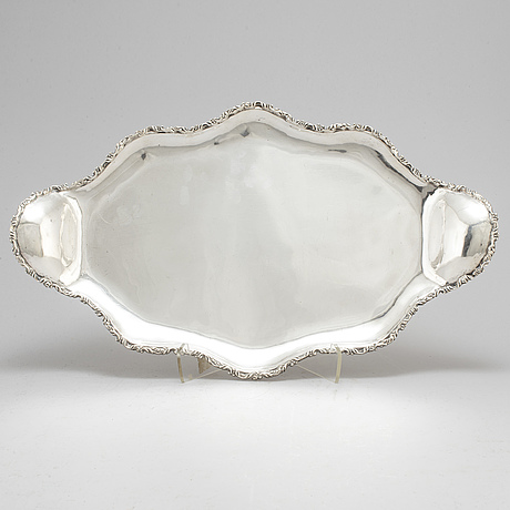 A sterling silver tray from mexico.