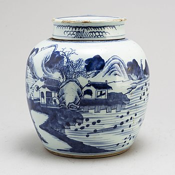 BOJAN med LOCK, porslin. Qingdynastin, 1800-tal.