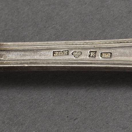 Matskedar 16 st, silver, 17  och 1800 tal