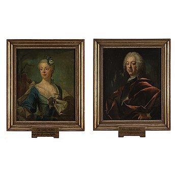 OLOF ARENIUS, a pair, oil on canvas.