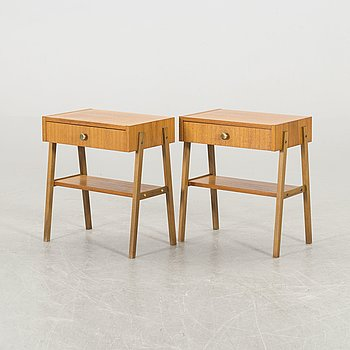 A pair of 1960s bedside tables.