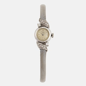 Baume & Mercies white gold and diamond ladies watch.