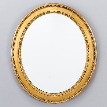 A late 18th Century Gustavian Style mirror, partly 1900-luku.