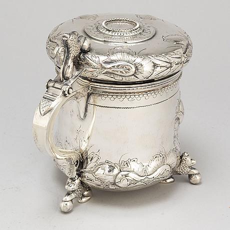 Dryckeskanna, silver, barockstil, tesi göteborg, 1950