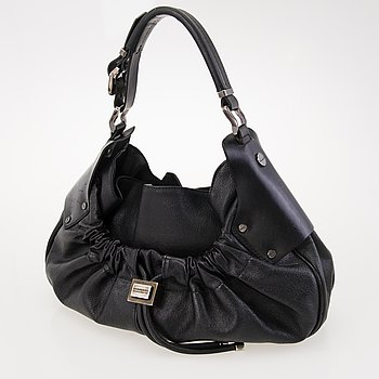 BURBERRY Prorsum Warrior Black Leather Hobo Bag.