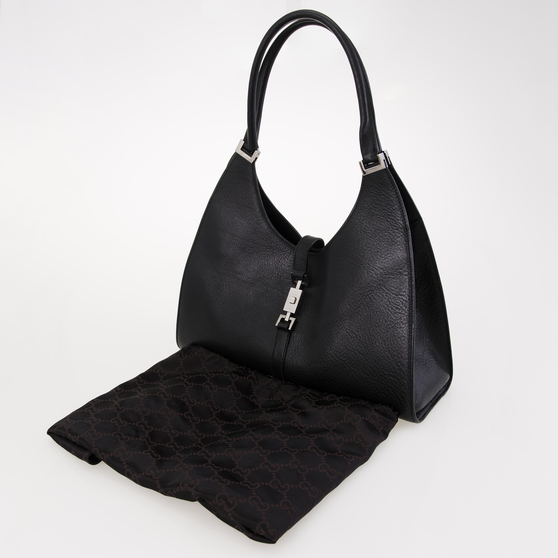 7c81c754667 GUCCI Black Leather Jackie O Bag. - Bukowskis