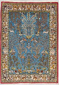 MATTA, old Ghom figural, ca 215,5 x 152-154 cm.