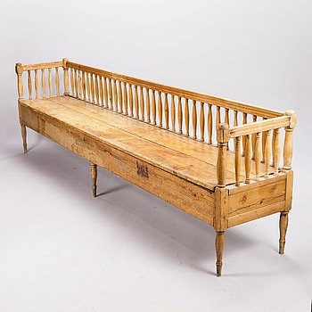 A Gustavian sofa, early 19th century.