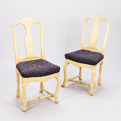 Two rococo chairs, late 18th century.