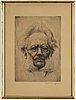 Werner e. a. hoffmann, etchings, 2, signed