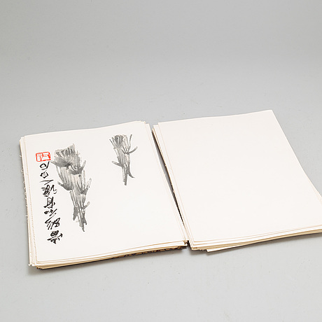 "Bok med trÄsnitt, ""qi baishi hua ji"", 1952"