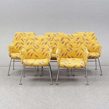 Five 'Mirja' armchairs by Bruno Mathssond, Dux, Sweden.