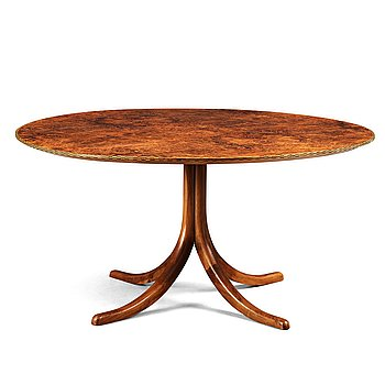 293. Josef Frank, a walnut and burrwood dinner table, Svenskt Tenn, model 1020, 1940-50's, provenance Estrid Ericson.