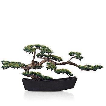 284. Estrid Ericson, an elastoline bonsai tree mounted in a Japanese cast iron pot, Svenskt Tenn, Sweden, mid 1900's, provenance E. Ericson.