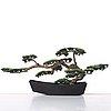 Estrid ericson, an elastoline bonsai tree mounted in a japanese cast iron pot, svenskt tenn, sweden, mid 1900's, provenance e. ericson.