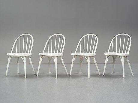 Uno Åhrén, stolar, 4 st, gemla, 1930-tal, proveniens estrid ericson.