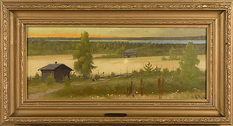 Sigfrid august keinÄnen, oil on canvas, signed