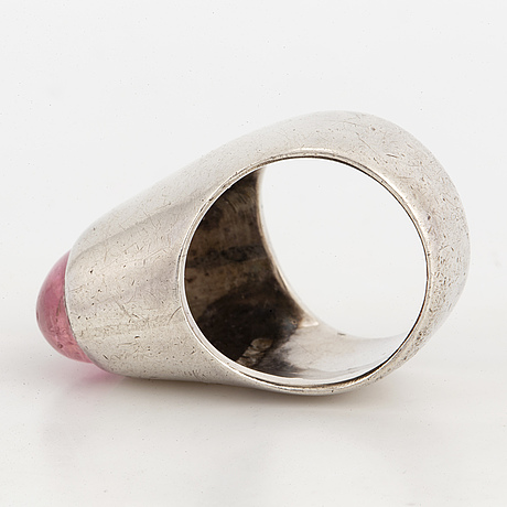 A rey urban silver and tourmaline ring