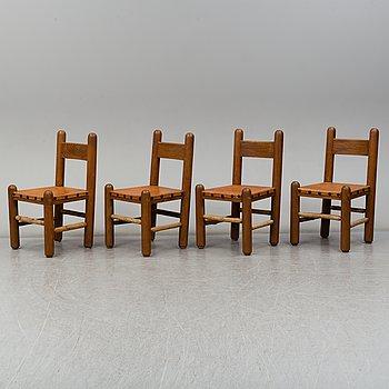 STOLAR, 4 stycken, 1900-talets andra hälft.