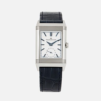 JAEGER-LeCOULTRE, Reverso Tribute Duoface, wristwatch, 25.5 x 31 (42) mm.