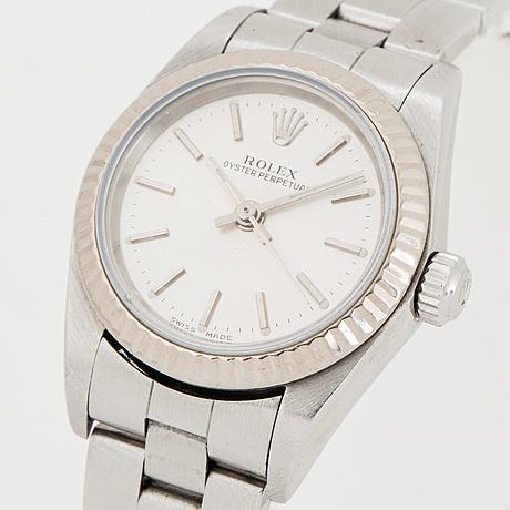Rolex, oyster perpetual, wristwatch, 25 mm.