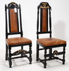 Stolar, 2 st, barock resp barockstil. 1700/1800-tal.