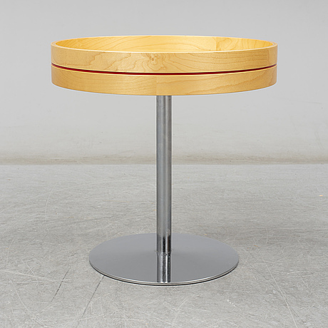 Monica fÖrster, a birch 'tray' table from offecct, 2006