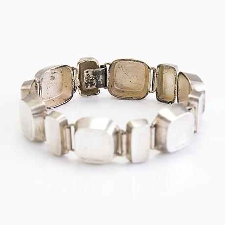 A silver stigbert bracelet, stockholm 1955.