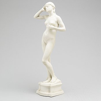 PER HASSELBERG, after. A porcelain sculpture from Gustafsberg, dated 01.