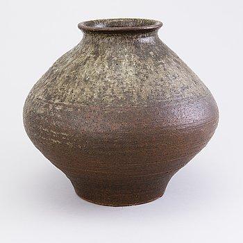 BRITA HEILIMO, a stoneware vase signed Arabia BH.