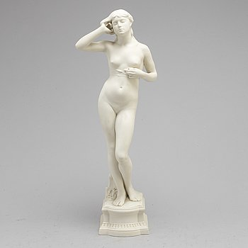 PER HASSELBERG, after. A porcelain sculpture from Gustafsberg,  dated 99.