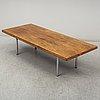 A scandinavian rosewood veneered coffee table, 1960's.