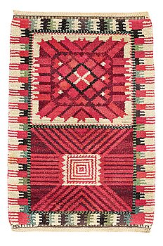 """186. Barbro Nilsson, A CARPET, """"Nellicka"""", knotted pile, ca 110,5 x 73 cm, signed AB MMF BN."""